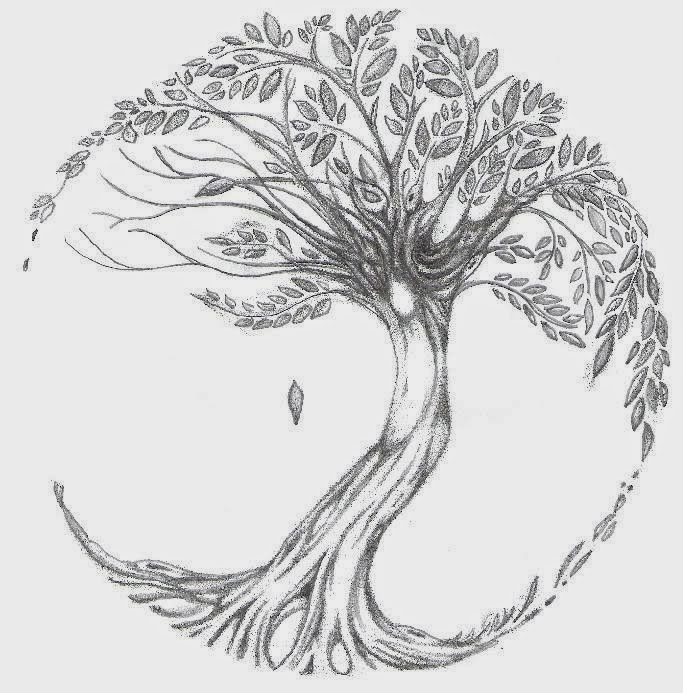 ♥ ♫ ♥ ♡ Tree of Life tattoo (i want to add this to my tree i already have. Make it a little more circular with the blossoms like the tree of life) ♡ ♥ ♫ ♥