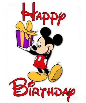 Cartoon Pictures Birthday Mickey Mouse