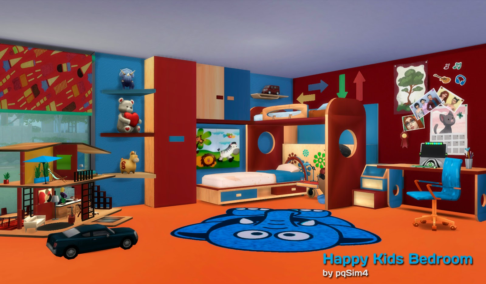 sims 4 dormitorio happy kids