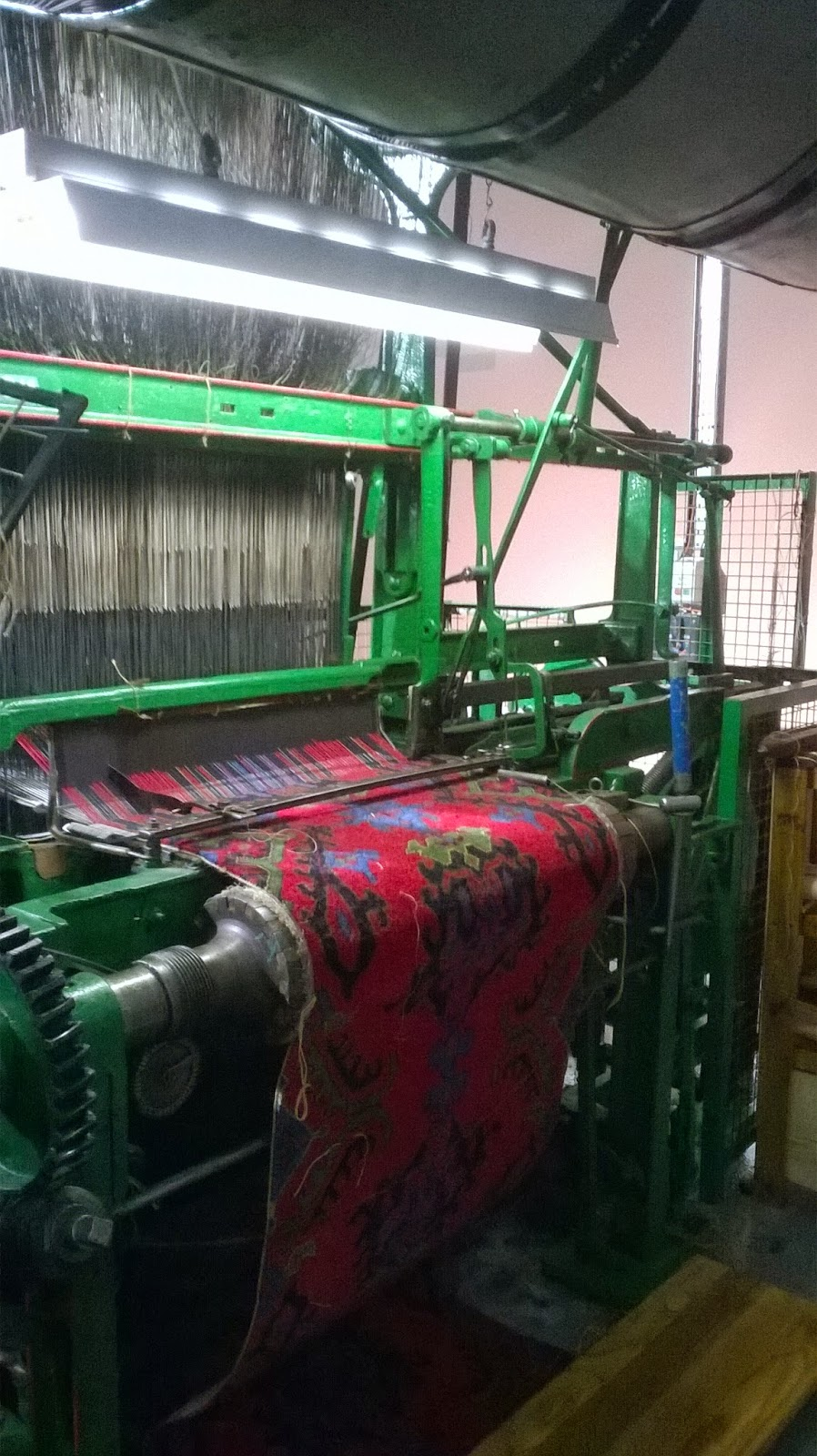 Wilton Carpet Loom at The Carpet Museum Kidderminster