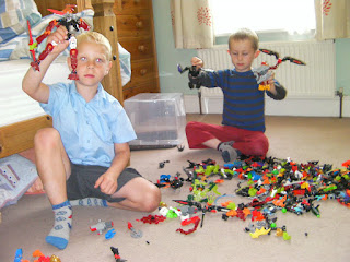 lego building session in bedroom