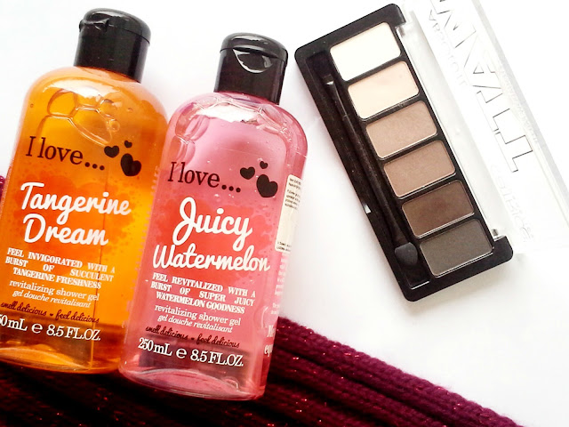 I love... cosmetics shower gel, catrice absolute matt palette