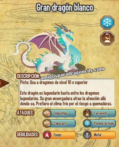 imagen de las caracteristicas del gran dragon blanco