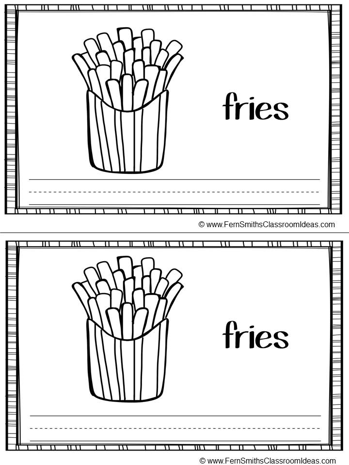 Fern Smith's FREE Printable Phonics Mini-Books for the -ie Family at Classroom Freebies