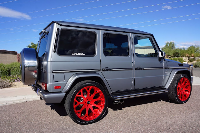 mercedes g63 red rims