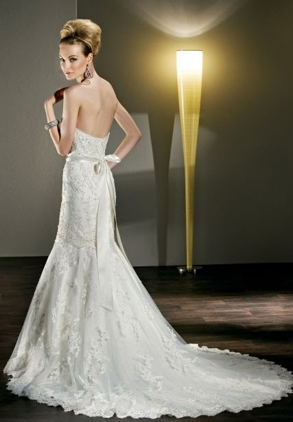 The Back of Lace Sweetheart Mermaid 2 in 1 Wedding Dress