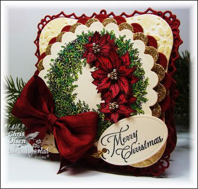 Our Daily Bread Designs Stamps - Cardinal Ornament, Poinsettia Wreath
