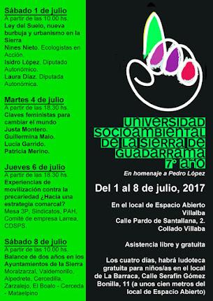 7ª Universidad Socioambiental de la Sierra de Guadarrama