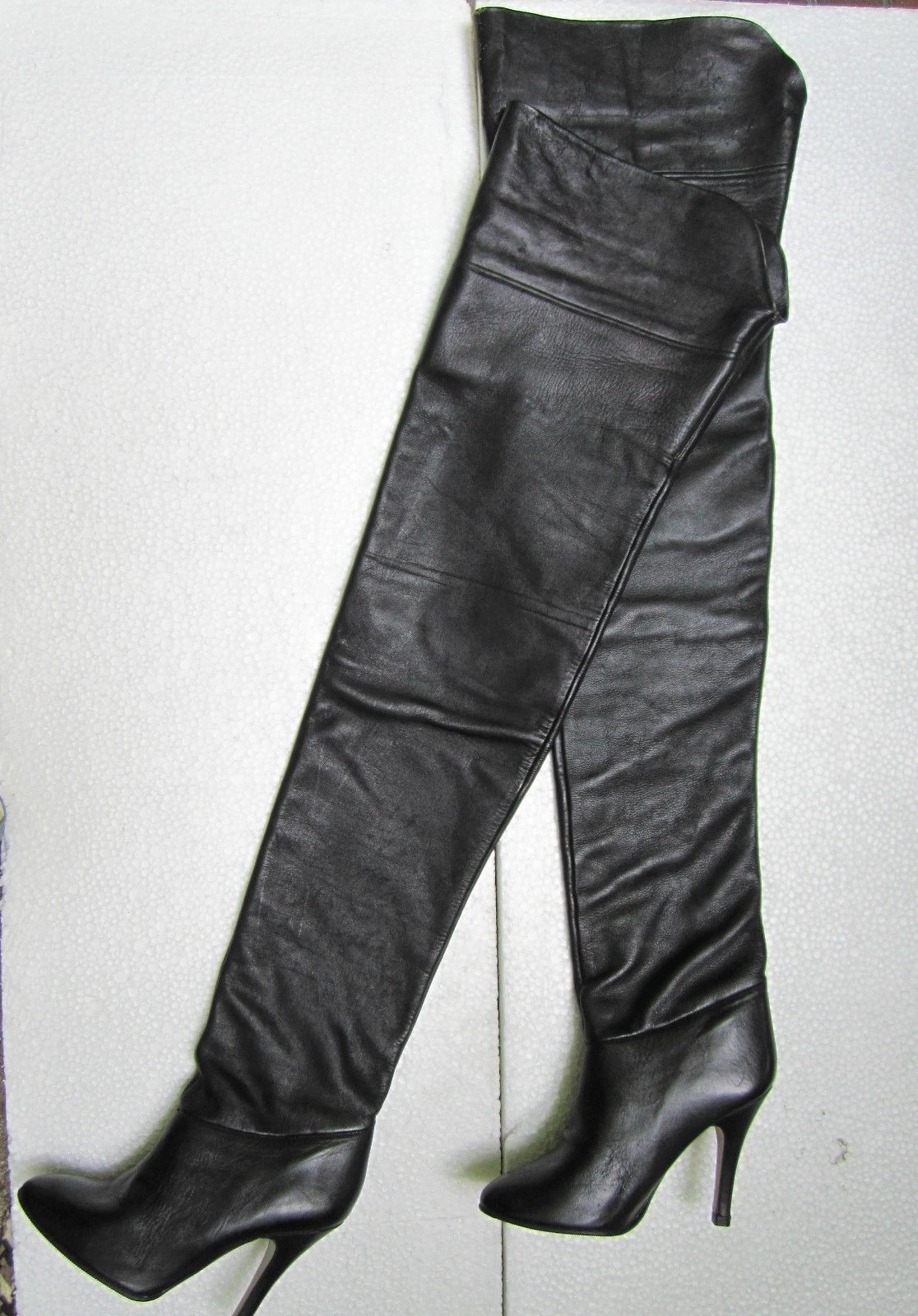 vintage thigh high boots tsaa heel