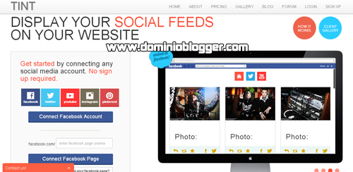 Publica el contenido de tu sitio web en Facebook con Tint - www.dominioblogger.com