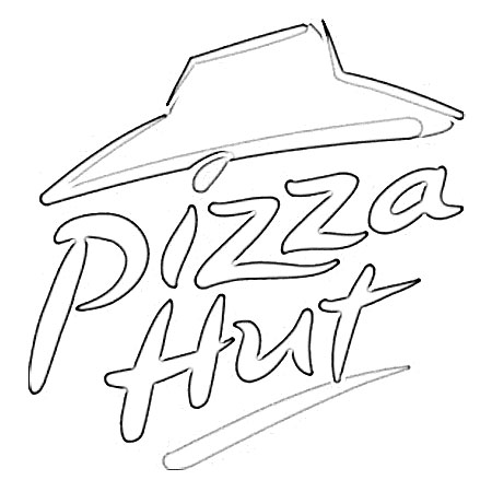 Pizza Sketch Templates Pizza Hut Coloring Pages