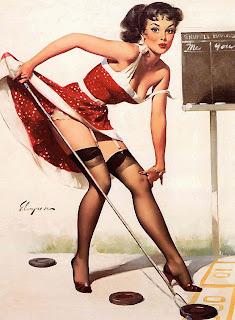 Elvgren shuffleboard girl pinup