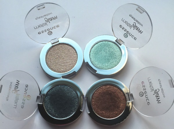 Essence Metal Glam Shadows review and swatches