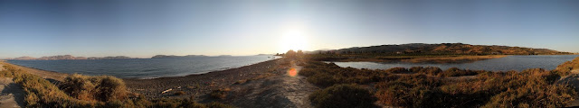 The Island of Hydra and Sabariza lagoon full 360° view