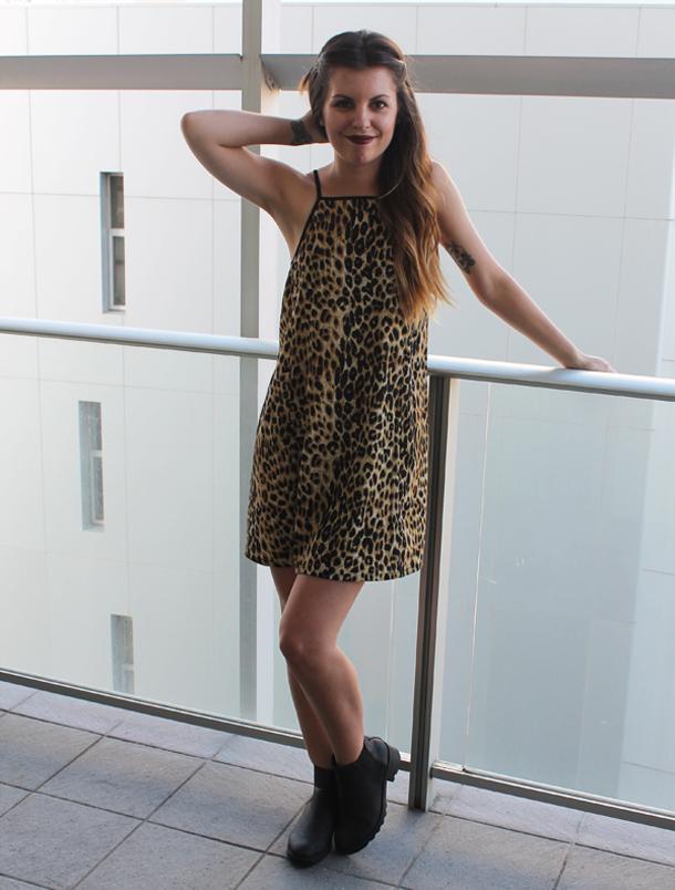 Sweet Monday, outfit, Minkpink leopard dress