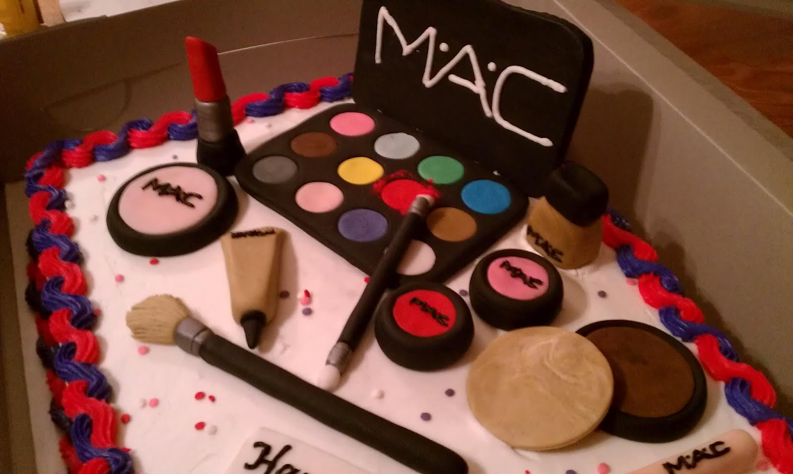 Introducing MAC makeup cake
