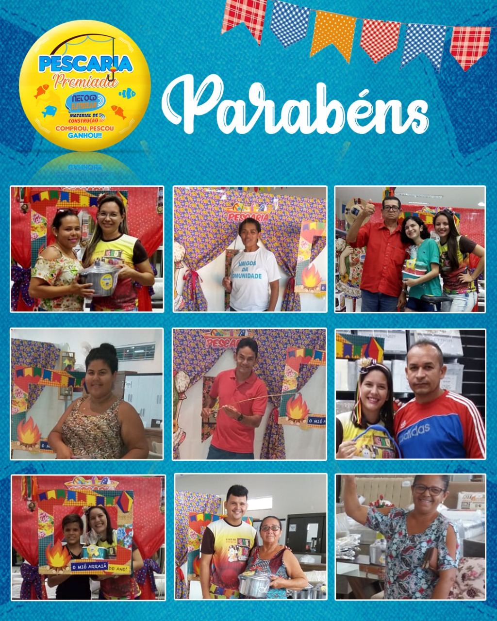 Participe da Pescaria Premiada nas Lojas Neto CD Eletrocelular e Mater. Comprou, Pescou, Ganhou!!!