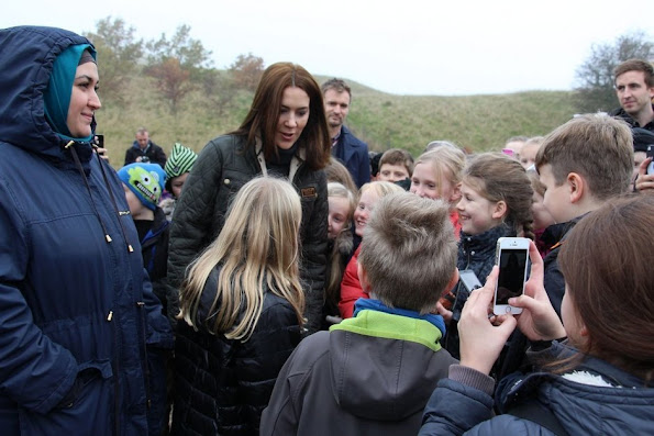 "Crown Princess Mary of Denmark launched of the Tree Planting campaign - ""Genplant Planetent"" at the Nature Center in Herstedhøje"