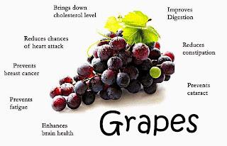 Khasiat Buah Anggur Baik Untuk Kesihatan