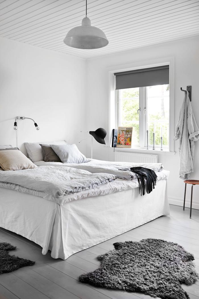 Design attractor industrial style and pastel colors in Industrial scandinavian bedroom