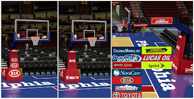 NBA 2K14 Philadelphia 76ers Court Mod