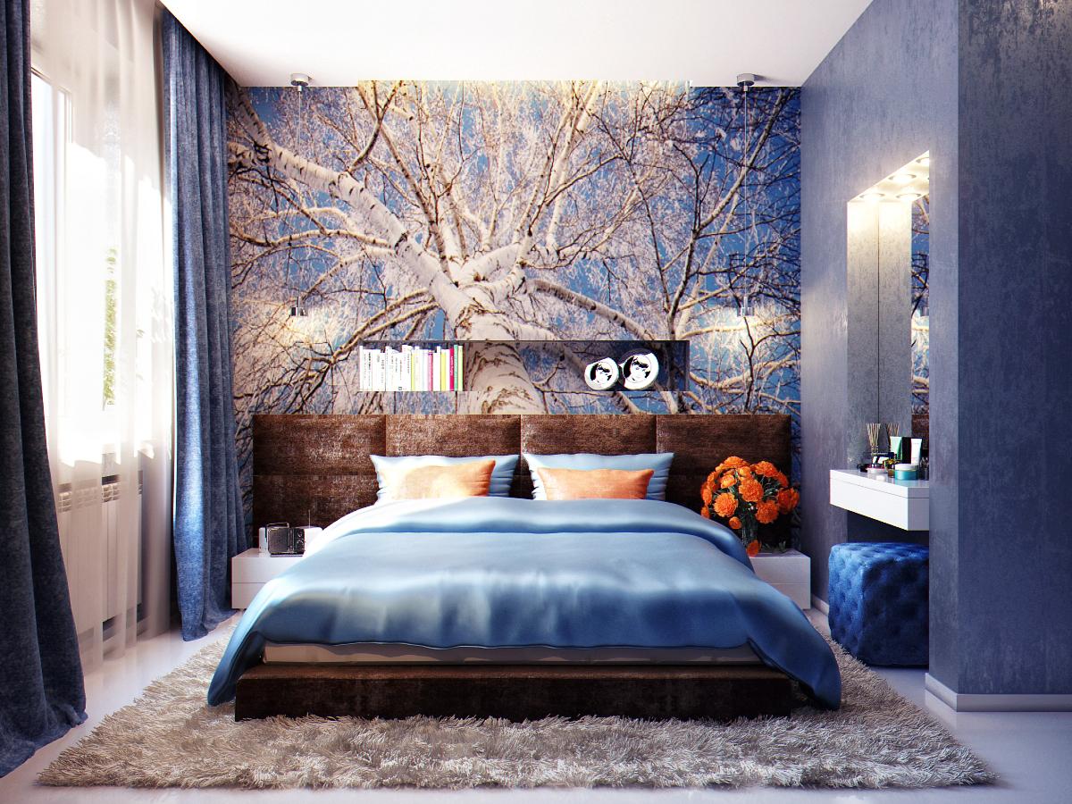 фото спальной комнаты модной