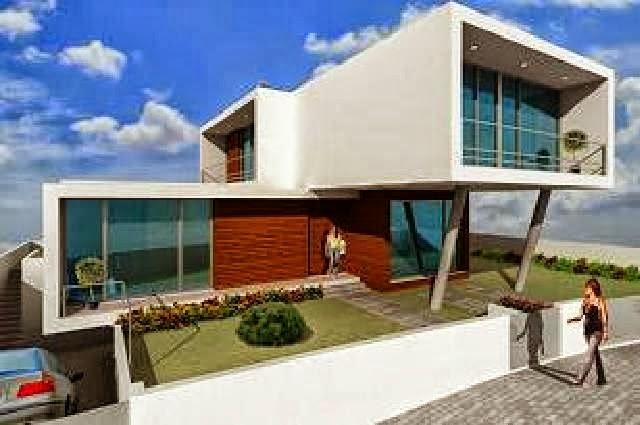 Casa fina decor fachadas de casas modernas casas sem - Distribuciones de casas modernas ...