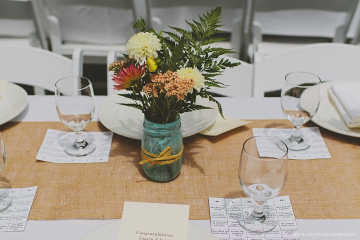 """painted mason jar centerpieces"""