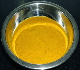 ground masala paste to make alsande randayi