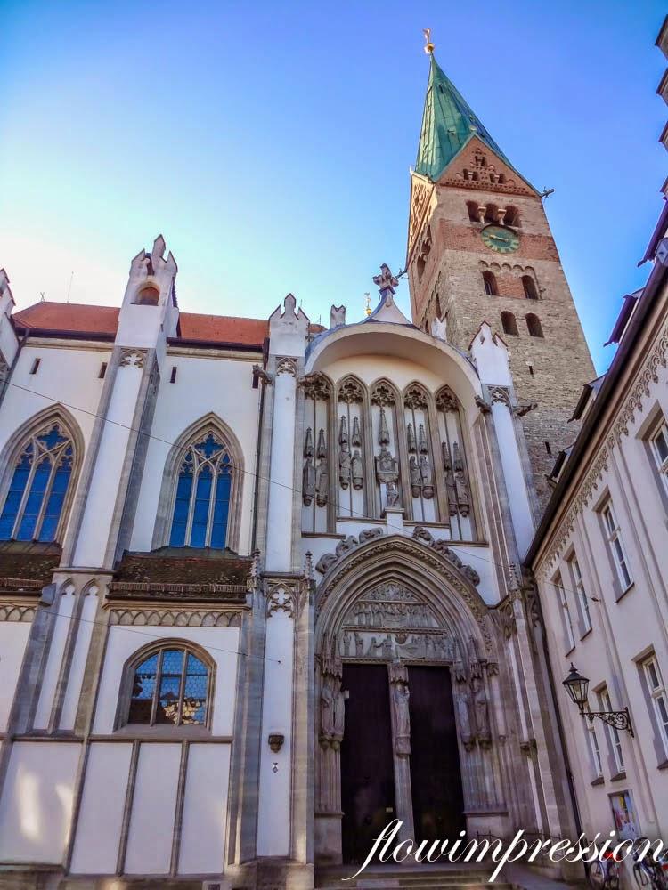 Der Augsburger Dom von aussen