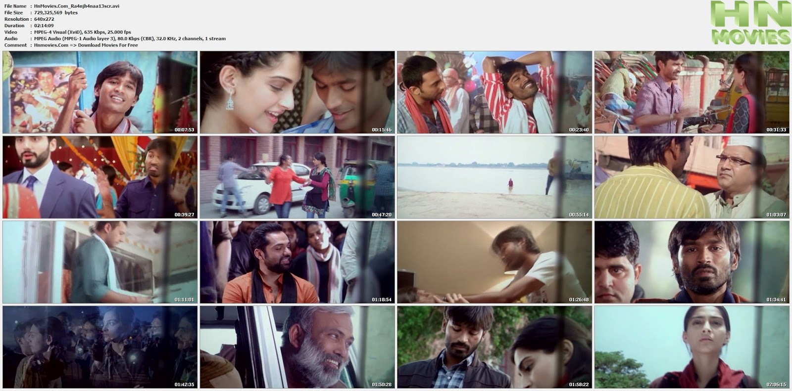 movie screenshot of Raanjhanaa  fdmovie.com