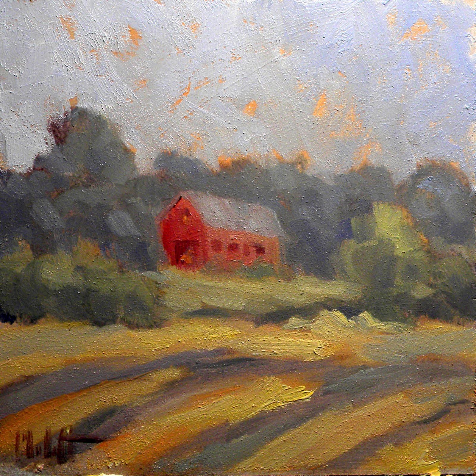 Heidi malott original paintings rural landscape for Contemporary oil paintings