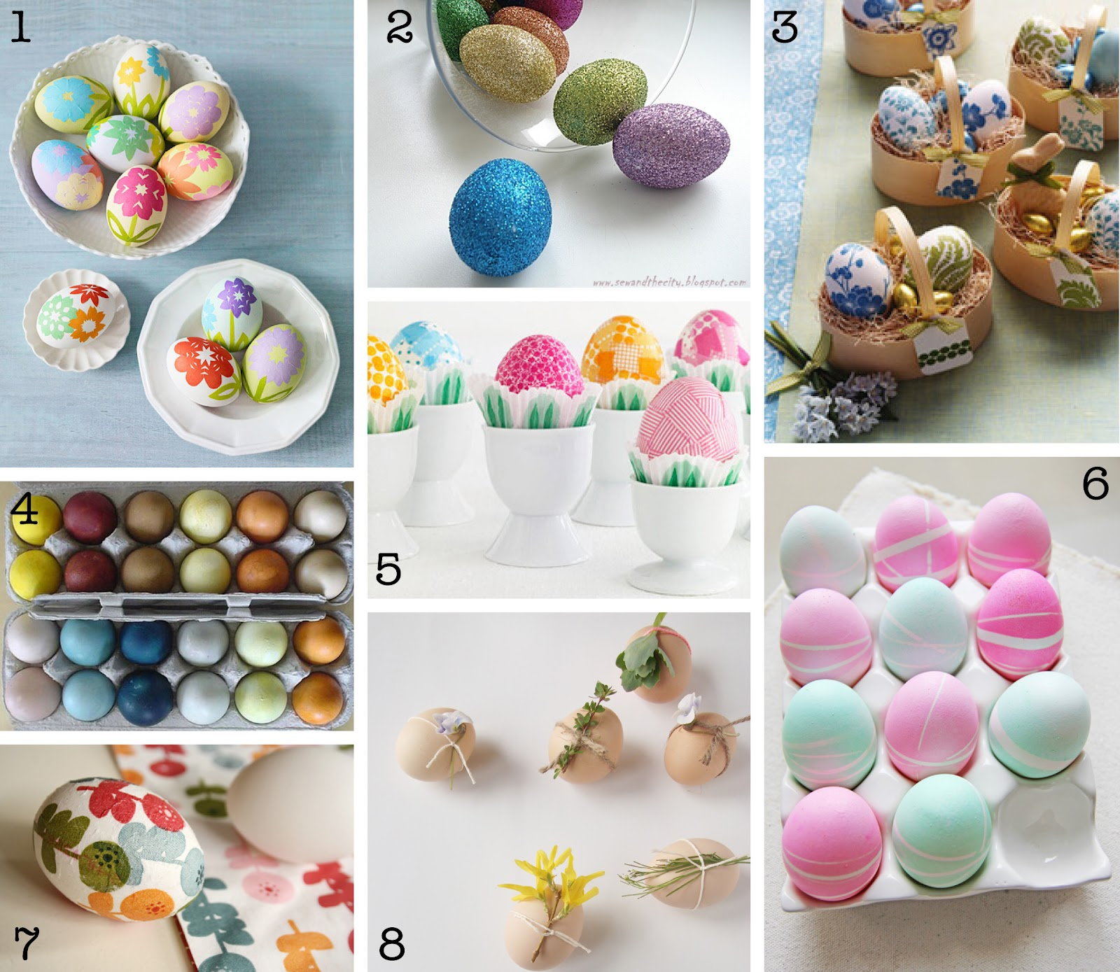 The creative place diy easter egg decorating roundup for Diy easter room decor