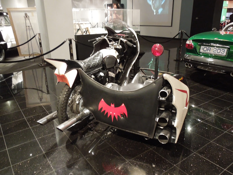 1966 Batman movie Batcycle rear