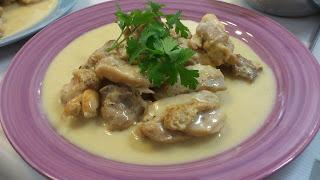 出張シェフ:鶏肉のフリカッセ(クリーム煮)