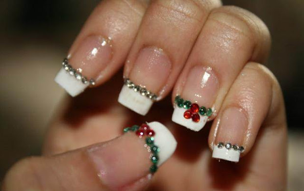 fast maza christmas nail art design