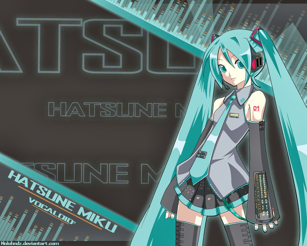 Hatsune Miku - Vocaloid Desktop Wallpaper
