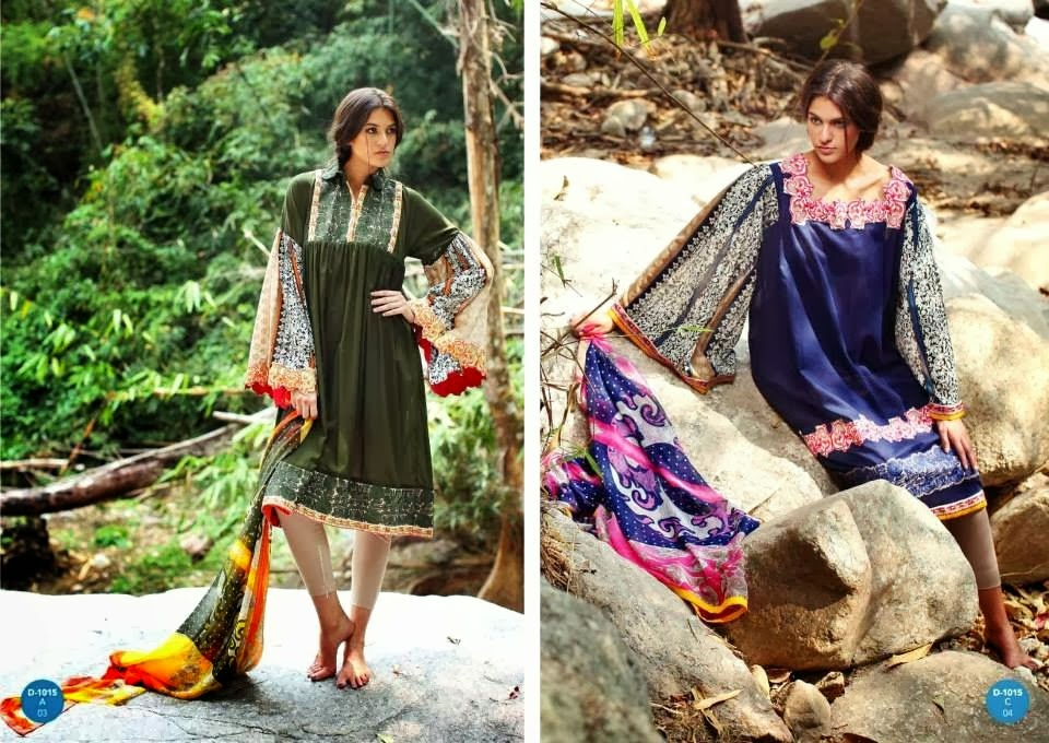 New Designer Lawn Dresses By Komal