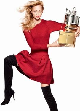 H&M campaña Navidad vestido rojo