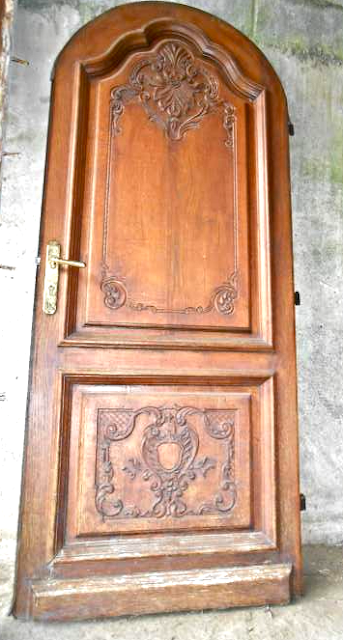Antique French Oak Entrance Door | Porte d'Entree Chene Massif