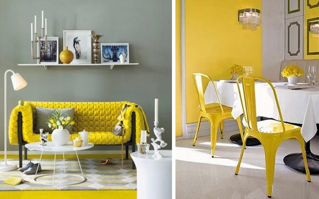 Teor a del color v naranja y amarillo decoraci n patri - Decoracion salon amarillo ...