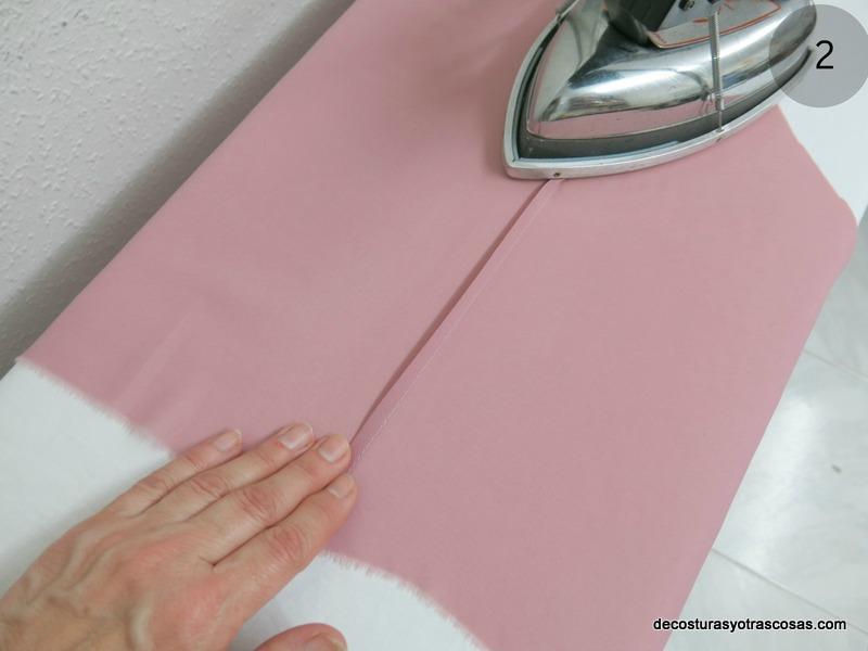 planchar el primer pliegue cosido
