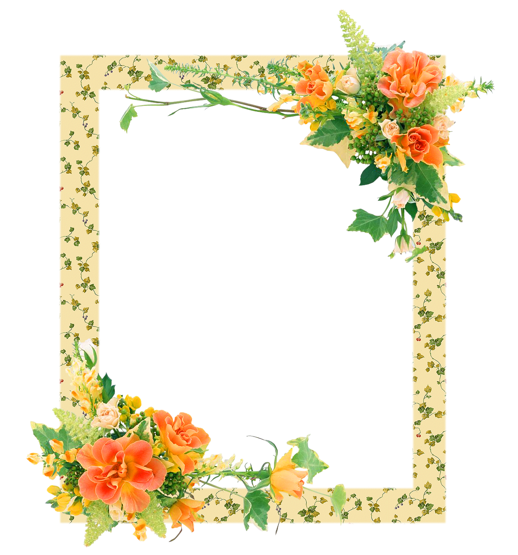 Hermosos marcos florales en png arte digital - Marcos de cuadros para fotos ...