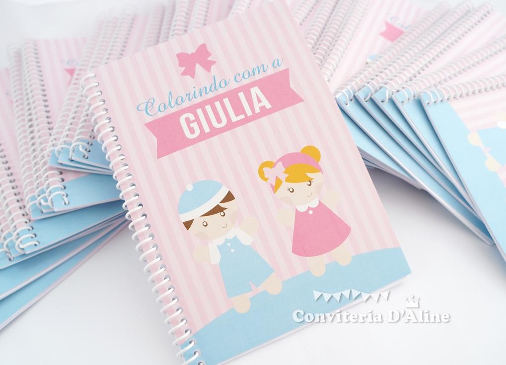 lembranca boneca pano caderno colorir