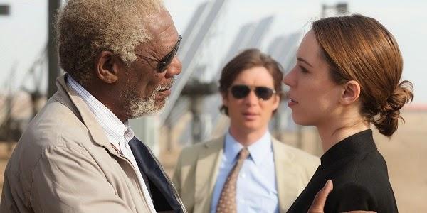 Morgan Freeman, Cillian Murphy e Rebecca Hall em TRANSCENDENCE - A REVOLUÇÃO (Transcendence)