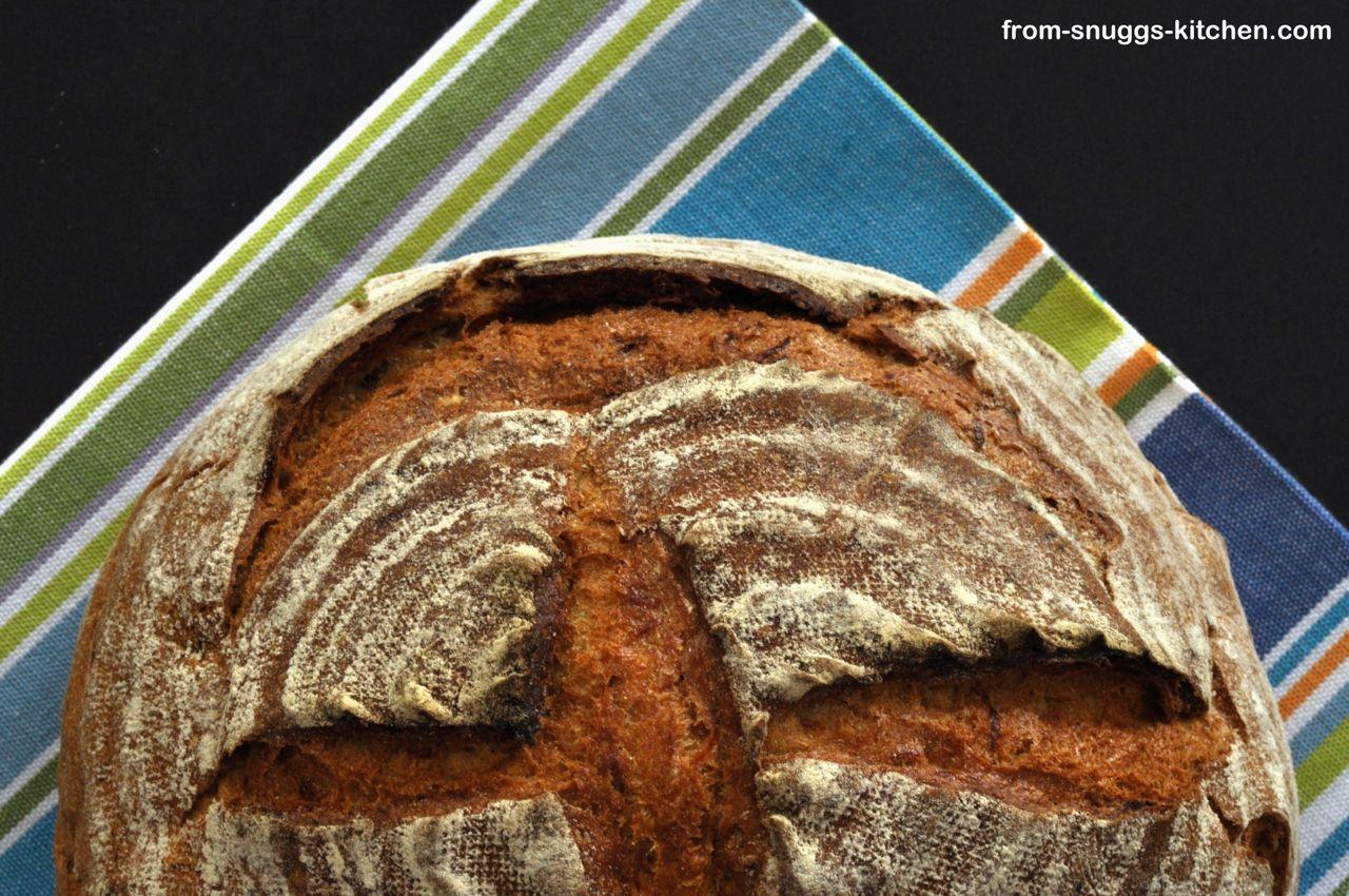 Kamut-Roggen-Brot mit Karotte