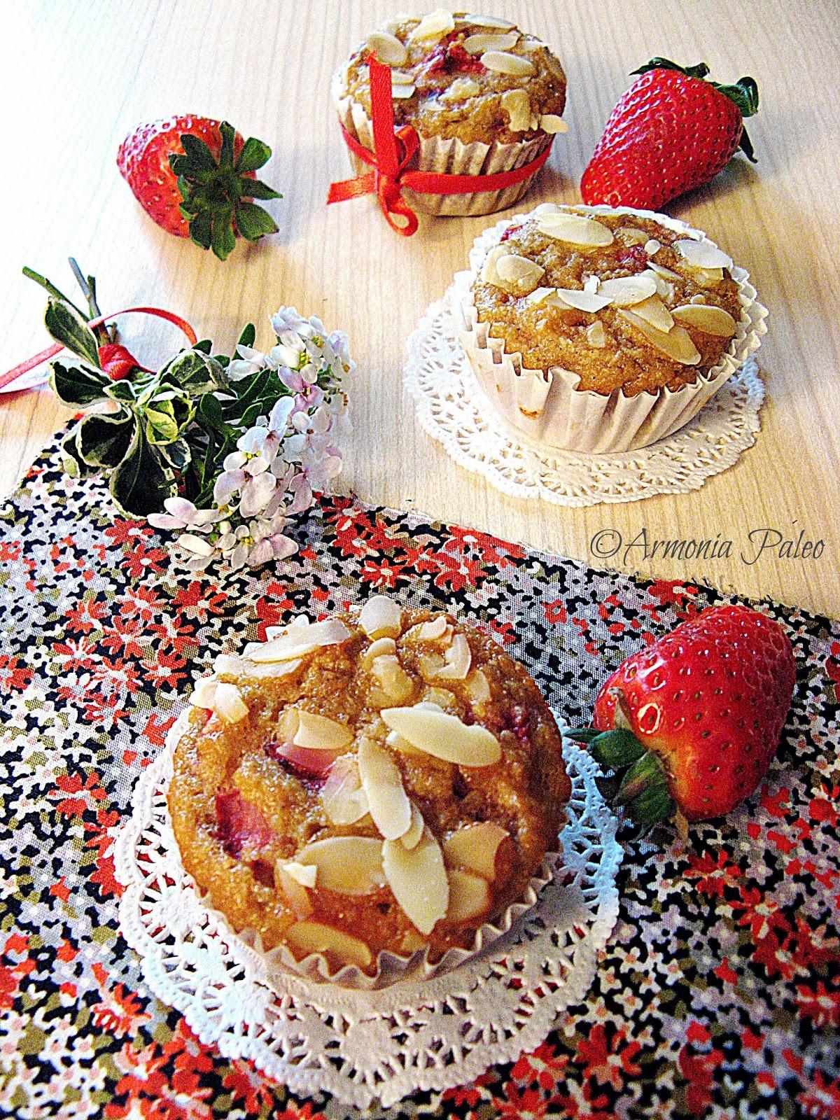 Muffins alle Fragole di Armonia Paleo