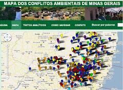 Mapa dos conflitos ambientais em MG