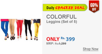 Set of 5 Lycra leggings for Rs 399 at Shopclues : BuyToEarn