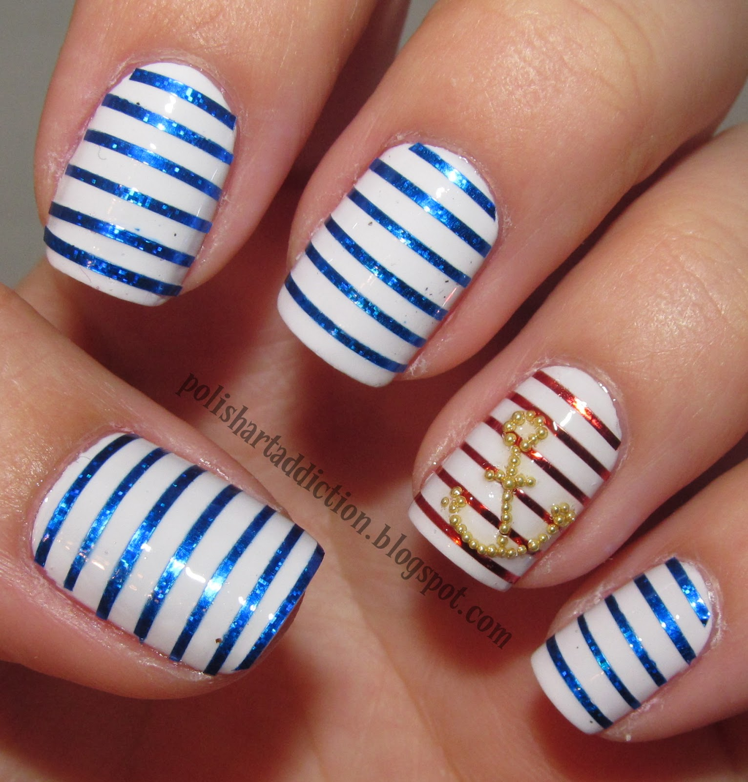 Nail Art Using Striping Tape: IT'S WHAT YOU LOVE ♡